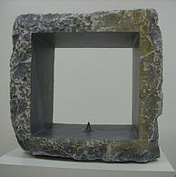 Omphalos, 2017, sculpture in grey marble from Peter Rosenzweig