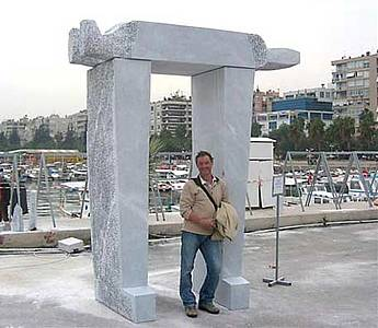 "Marble sculpture ""Olü Krol"" (""Dead King"") from Peter Rosenzweig, Mersin, Turkey, 2007"