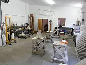 Einblick in den Atelierraum in der Kreuzbergstraße 9